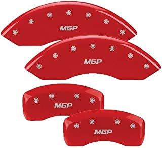 MGP Caliper Covers 12162SMGPRD 'MGP' Engraved Caliper Cover with Red Powder Coat Finish and Silver Characters, (Set of 4)