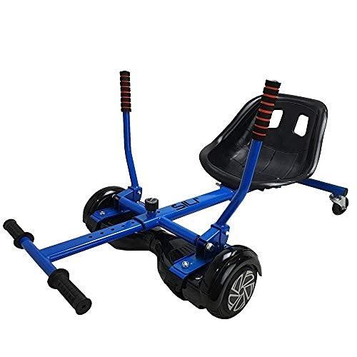 SILI - Kart de Drift con suspensión - Compatible con Hoverboards de 2 Ruedas - para derrapar y Hacer Trucos - Azul