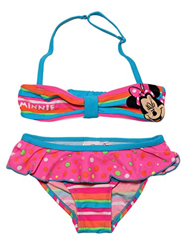 Disney EP1803 Minnie Mouse - Bikini de natación para niñas
