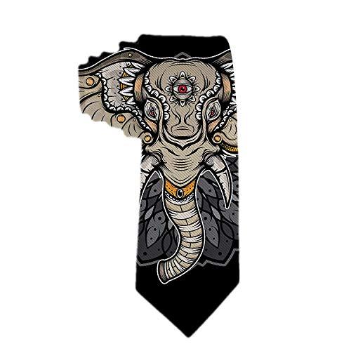 Web--ster Cravatte regalo tradizionali elefante per uomo cravatte in poliestere cravatte jacquard