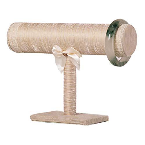 ZHUSHI. Elegante Rack Armband Halskette Stand Champagner Farbe mit Fliege Schmuck Organizer Display Halter Handdekoration