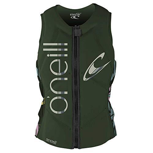 O'Neill Wetsuits Women's Slasher Comp Vest, Dark Olive/Baylen, 10 (4531)