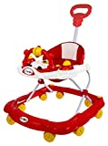 Goyal's Birdie Musical Walker with Parental Push Handle & 6 Levels Height Adjustment