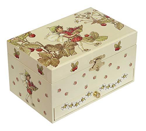Trousselier - Blumenfeen - Flower Fairies - Musikschmuckdose - Spieluhr - Ideales Geschenk für junge Mädchen - Phosphoreszierend - Leuchtet im Dunkeln - Musik Mozarts Zauberflöte - Farbe grün