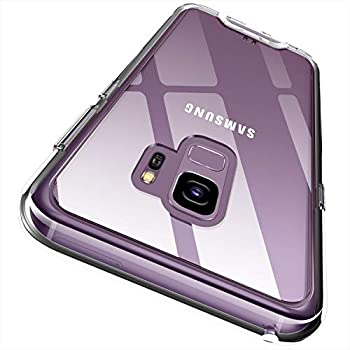 Rayboen Case for Samsung Galaxy S9 Crystal Clear Designed Anti-Yellowing Non-Slip Shock Absorption Protective Cover Hard Plastic Back & Soft TPU Frame Thin Phone Case for Samsung Galaxy S9 5.8 inch