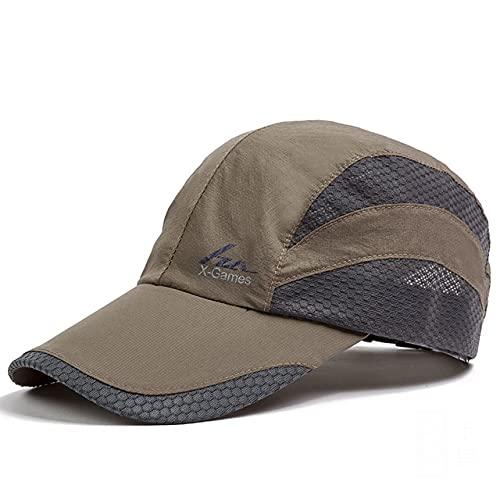 Gorra de béisbol de Moda, Gorras de Sol adorables, Sombrero de Pesca para Adolescentes Unisex, Gorras de Hip Hop Planas con Snapback-16011-Khaki-Adjustable