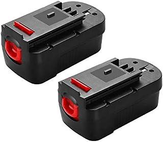 Happy Bean - Batería de repuesto para Black&Decker 18 V HPB18 HPB18-OPE 244760-00 FS18FL FSB18 Firestorm Power Tool (2 unidades)