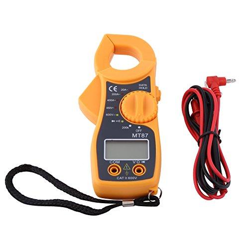Multímetro digital Pinza amperimétrica AC DC Voltímetro Amperímetro Pinzas amperimétricas de corriente Ohmímetro Probador de voltios Medidor LCD Probador múltiple digital de bolsillo