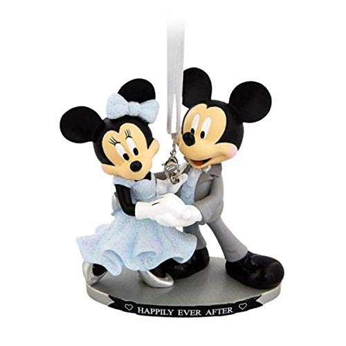 Mickey and Minnie Wedding Hanging Ornament, Disneyland Paris, Official Disney Christmas Ornament