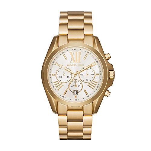 Relógio Michael Kors Mk6266 Bradshaw Dourado 43Mm