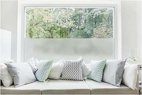 TEXMAXX Milchglas Fensterfolie Sichtschutz - 90cm x 150cm - SF01 ohne Design - Blickdicht statisch selbsthaftende Milchglasfolie Sichtschutzfolie