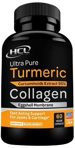 Collagen & Turmeric Curcumin Capsules - Extra Strength Joint...