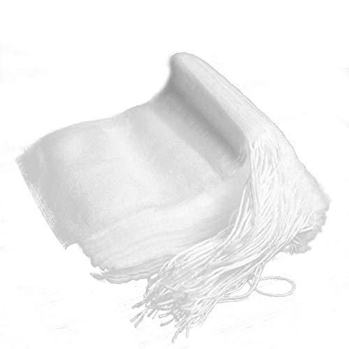 Blackr 100pz riutilizzabile filtro da tè borse vuoto cotone coulisse Seal filtro bustine di tè per foglie di tè sciolte