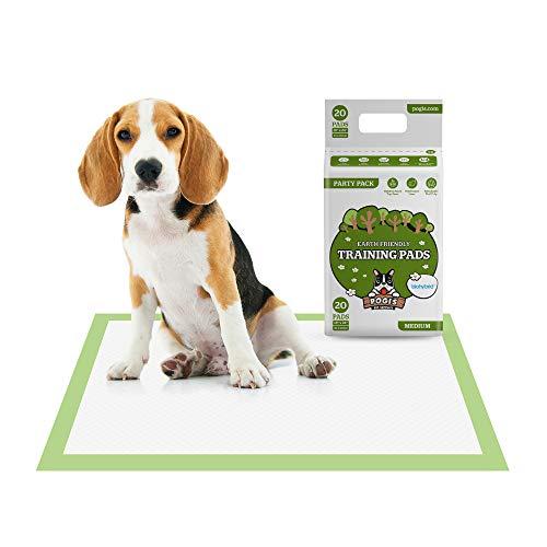 Pogi's Trainingsunterlagen (20 Stück) (45x60cm) — Mittelgroße, superabsorbierende, erdfreundliche Hunde-Trainingsunterlagen für Welpen und kleine Hunde