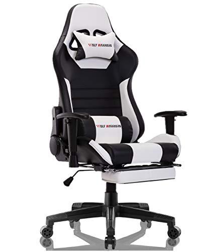 Gaming Chair Ergonomic Reclining Racing Computer Game Chairs High Back PU...