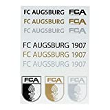 FC Augsburg Schriftzug und Logo Sticker Gold