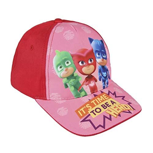 PJ Masks Héroes en Pijamas 2200002843 Gorra, Algodón, Gatuno, Buhíta, Gecko