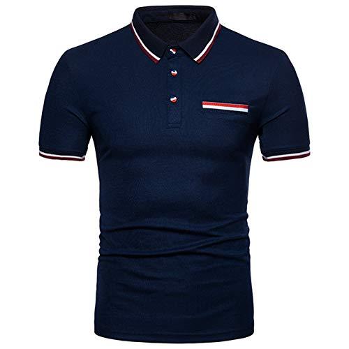 Heren poloshirt zomer kraag slim polo kleur modern korte mouwen shirt casual daily vrije tijd mode basic pique polohemd