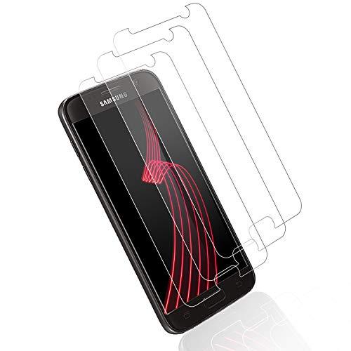 Film de Protection d'Écran pour Samsung Galaxy S7, [Lot de 3] Dureté 9H Anti-Rayures, Couverture Complète, Anti-Trace de Doigts, S7 Protecteur d'Ecran de Verre Trempé