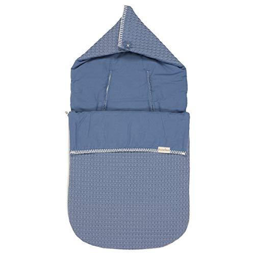 Koeka Baby Fußsack Flannel 3/5-punktegurtegurt Antwerp Stormy Blue One