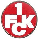 Pin 1. FC Kaiserslautern Logo - 1.5 x 1.5 cm, + gratis Aufkleber, Flaggenfritze®