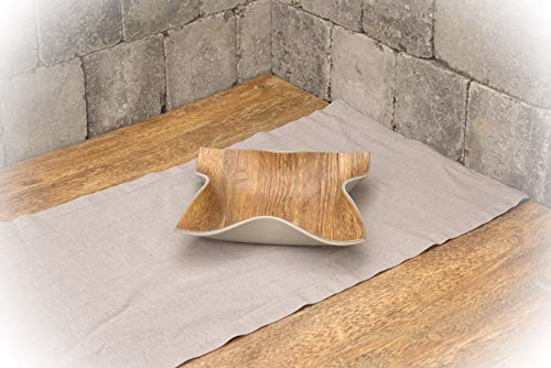 Upcycling // Dekoschale aus Designbodenbelag // Utensilienschale // Taschenleerer/Schale 23 x 23 cm