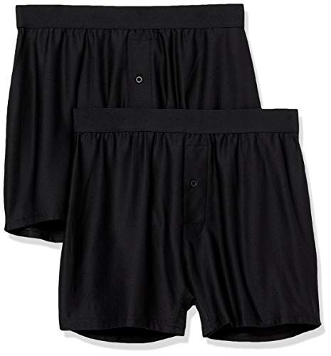 Amazon Essentials 2-Pack Breathable Quick-Dry On-The-Go Boxer-Shorts, schwarz, US (EU XL-XXL)