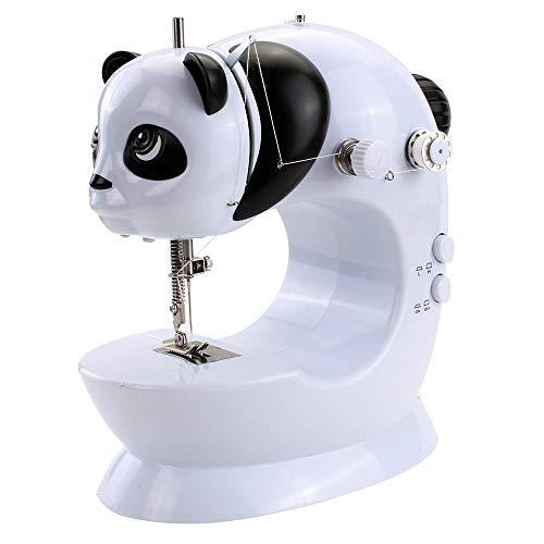 SXSHYUSU Multifunción Máquina de Coser Mecánica, Máquina Overlock Eléctrica Portátil, 22 * 9 * 24cm, Fácil de Usar y Práctica Portátil, White