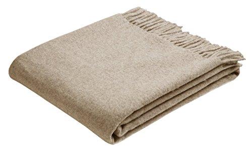 Bocasa by biederlack Plaid Wolle beige Größe 130x170 cm