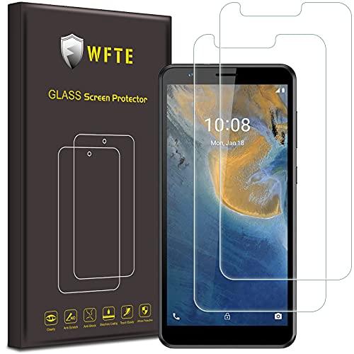 WFTE [2-Pack] Protector de Pantalla para ZTEBladeA31,9H Dureza,Huellas Dactilares Libre,Sin Burbujas,Cristal Templado...