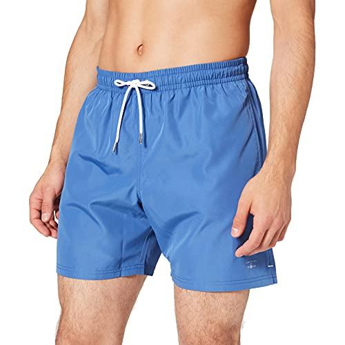 Cortefiel BAÑADOR Liso Eco Beach, Azul Medio, XL para Hombre