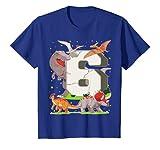 Kinder 6. Geburtstag Junge Dinosaurier Figuren Sechs Jahre T-Shirt