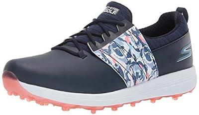 Skechers Women's Eagle Spikeless Golf Shoe, Navy/Multi Floral, 7.5 M US