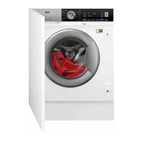 AEG L7WE8471BI Einbau-Waschmaschine vorne A mit Wäschetrockner - Waschmaschinen mit Wäschetrockner (Frontlader, integriert, links, Drehknöpfe, LED)
