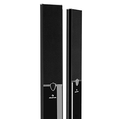 """Auna Areal 653 - Système Surround 5.1, Système d'enceintes, Subwoofer de 6,5"""", Quatre Enceintes colonnes, Une Enceinte Centrale, Interface Bluetooth, Deux Prises Microphone, Noir"""