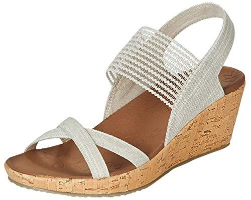 Skechers Beverlee Sandalen/Sandaletten Femmes Beige - 40 - Sandalen/Sandaletten