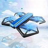 YONIS Drone Quadcopter Compatibile Android iOS giroscopio 6Assi Pieghevole 360Gradi radiocommandé Telecamera Illuminazione LED Blu