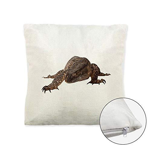 Mygoodprice - Cojín Suave de Forro Polar Estampado (40 x 40 cm), diseño de dragón de Komodo