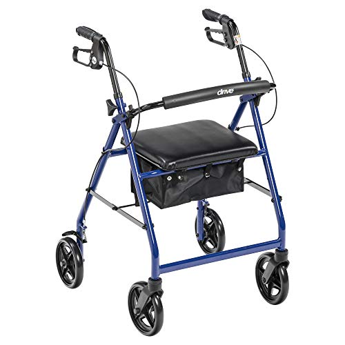 Drive Medical Rollator Walker with Fold Up and Removable Back Support