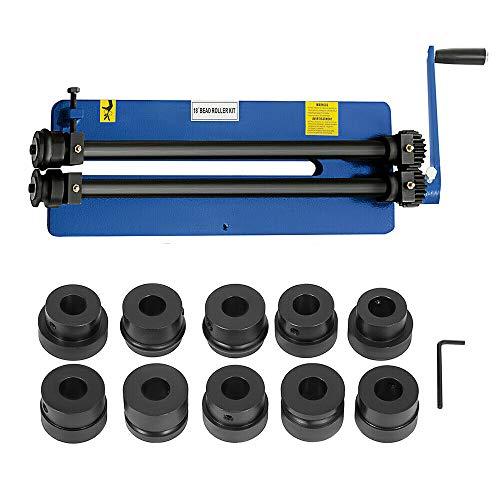 Wangkangyi 2-Walzen Rundbiegemaschine 460mm Sickenmaschine Bördelmaschine Biegemaschine Biegegerät Rundbiegegerät mit 6 Würfelsätzen 1,2mm, für Rundstahl, Vierkantstahl & Baustahl