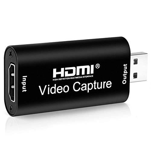 BLUPOW 超小型 USB2.0対応 1080p30Hz HDMIキャプチャーカード ビデオキャプチャーボード ゲーム実況生配信・画面共有・録画・ライブ会議用 UVC(USB Video Class)規格準拠 電源不要 持ち運びに便利 VA565