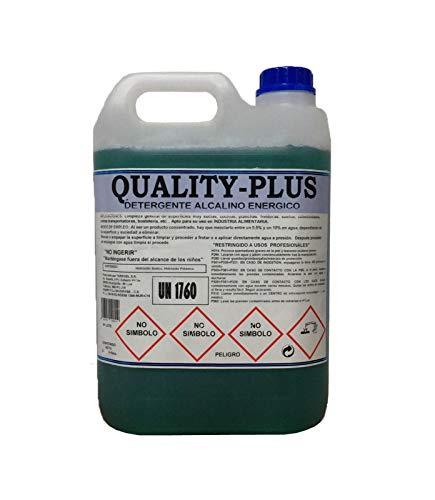 """CE Quality-Plus DESENGRASANTE HIGIENIZANTE SÚPER-Concentrado Energético.""""Especial para COCINAS Y Suelos Muy sucios - Motores """" Aroma MENTOLADO (5Kgrs)"""