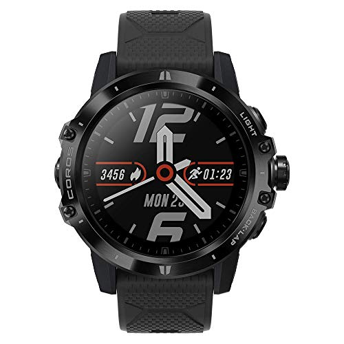 COROS VERTIX GPS Adventure Watch with Pulse Oximeter,Titanium Bazel/Cover with Sapphire Glass (DLC Coating),24/7 Blood Oxygen Monitoring, Trainer and Ultra-Durable Battery Life (Dark Rock)