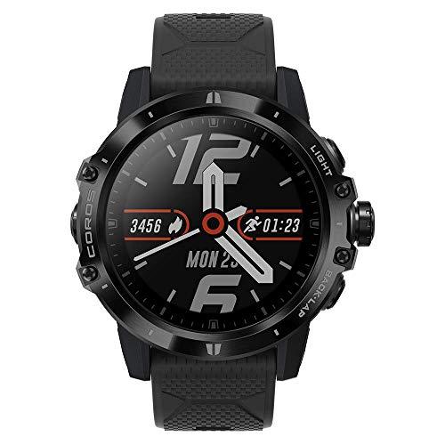 Montre d'aventure GPS COROS VERTIX avec Moniteur Pulse Ox, Batterie GPS complète 60h, Surveillance HR 24/7, Verre Saphir avec revêtement en Forme de Diamant, écran Tactile (Dark Rock)