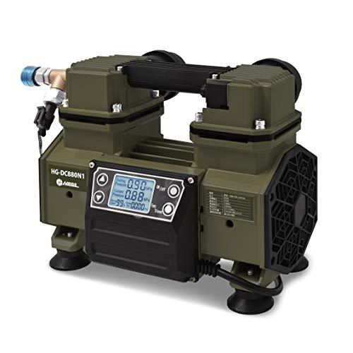 HAIGE エアーコンプレッサー 静音 100V タンクレス ブラシレス オイルレス 1年保証HG-DC880N1