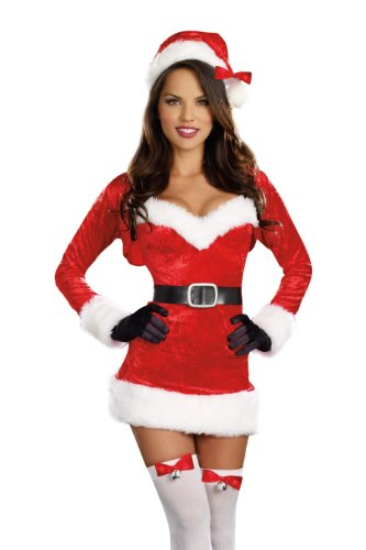 Dreamgirl Women's Santa Baby Costume, Red, Small