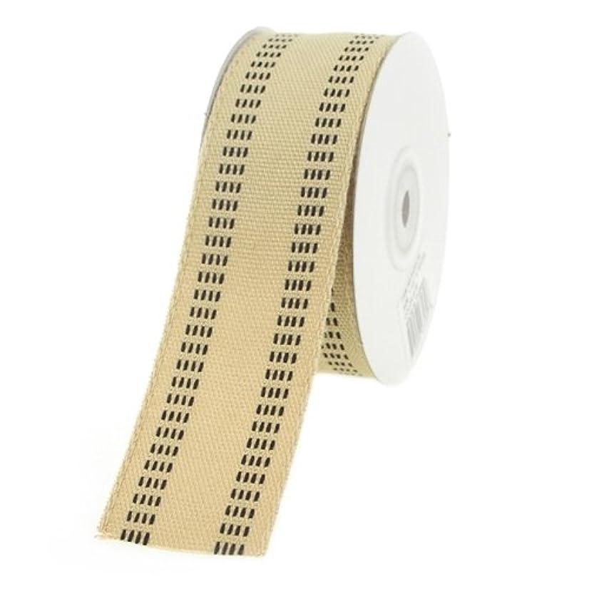 Homeford Firefly Imports Burlap Webbing Stitch Ribbon, 1-1/2-Inch, 10 Yards, Black, 1.5