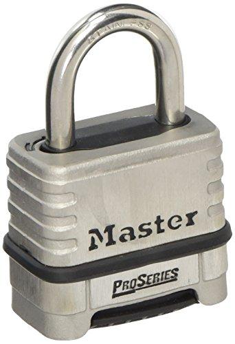 Master Lock 1175D - Lucchetto a combinazione resettabile, in acciaio INOX