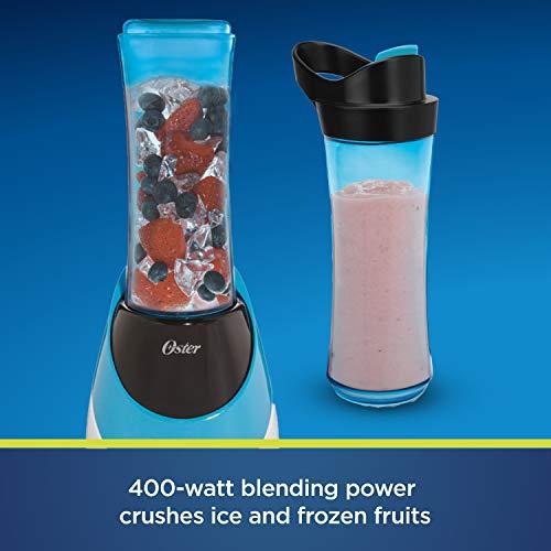 Oster BLSTPB-WBL My Blend 250-Watt Blender with Travel Sport Bottle, Light Powder Blue