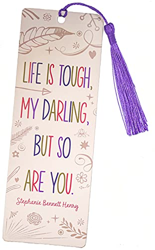 Inspirational Bookmark for Women and Girls - This Cute and Cool Book Marker is a Great Gift for Book Lovers, Mothers, Grandmothers, Teens, and Graduations